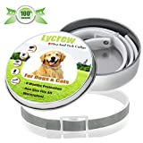 Dog Flea Treatment Collar - Lycrew Flea and Tick Collar for Dogs/Cats,Essential Oil Safe Dog Collar,Removes 500 Species of Insects In 24 Hours,Adjustable Waterproof Flea & Tick Prevention for 8 Months.