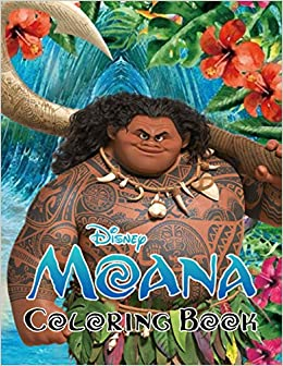 Moana Coloring Book Super Coloring Book For Kids And Fans 50 Giant Great Pages With Premium Quality Images Maui Moana 9798578293948 Amazon Com Books
