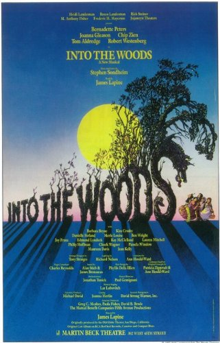 Into the Woods Poster Broadway Theater Play 11x17 Bernadette Peters Joanna Gleason Chip Zien