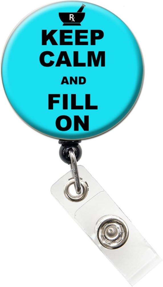 Pharmacy Tech Badge Reel\u2014Pharmacy Tech Badges\u2014Pharmacy Tech Retractable Badge Reels\u2014Pharmacy Tech Reels
