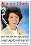 "Elaine Chao - Asian American Secretary Of Labor - NEW Famous Person Motivational Classroom Poster 12"" x 18"" Classroom Poster Printed on High Quality Paper  -  PosterEnvy EXCLUSIVE!  That means you won't find it anywhere else!"