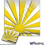 Sony PS3 Slim Skin - Rising Sun Japanese Yellow