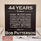Personalized Retirement Gift - Wood Engraved...