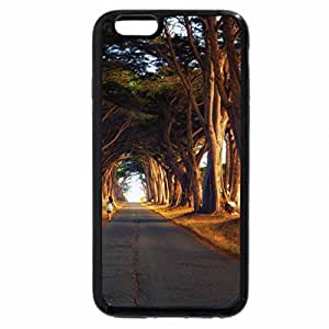 iPhone 6S Plus Case, iPhone 6 Plus Case, girl walking on a treelined road to autumn