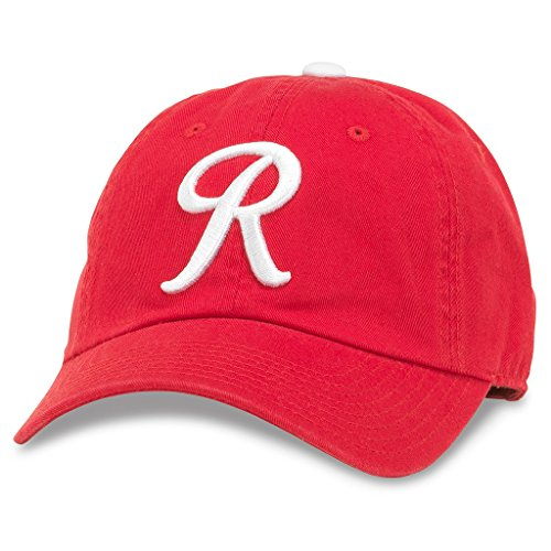 American Needle Ballpark 3 Curved Brim Patch Baseball Hat, Seattle Rainiers, Red/White (43027A-SER)