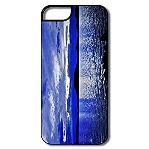 IPhone 5 Cases, Blue Moon Cases For IPhone 5S - White/black Hard Plastic