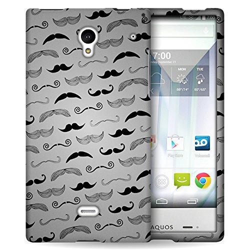 Sharp Aquos Crystal Hard Designer Phone Case (Mustache)   CoverON (Snap Fit) Graphic Image Protector Series   Fun Design Slim Cover for Sharp Aquos Crystal 306SH