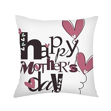 Aniyoge Funda de almohada, Día de la Madre Throw fundas de ...