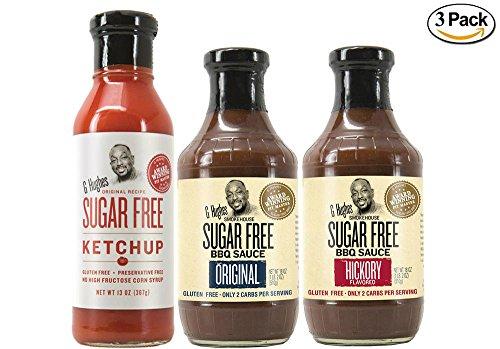 G Hughes Sugar Free Ketchup 13 oz Original Sugar Free BBQ Sa