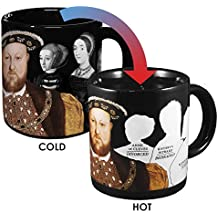 Henry VIII Disappearing Coffee Mug - Add Hot Water and Watch Henry's Wives Disappear - Comes in a Fun Gift Box - by The Unemployed Philosophers Guild