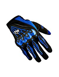 Bicycle/Motorcycle Riding Pro Gloves Motorcycle Cycling Full Gloves, Blue, M