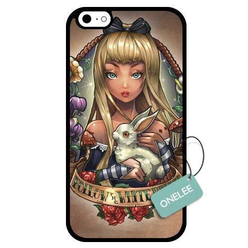 Onelee - Customized Disney Alice in Wonderland Pricess Tattoo Art Design TPU Case Cover for Apple iPhone 6 - Black 10
