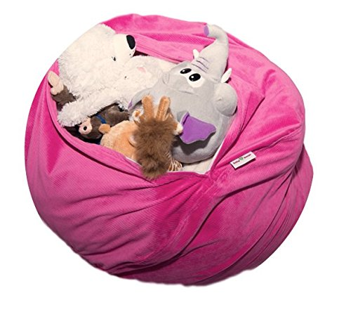 large cozy comfy stuffed animal storage bean bag chair unfilled super ebay. Black Bedroom Furniture Sets. Home Design Ideas