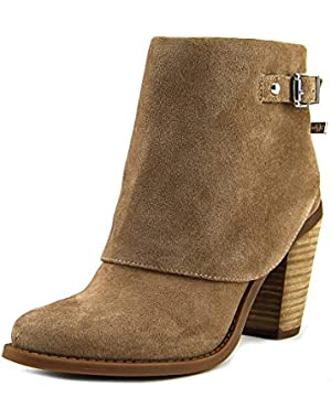 Caralyne Women Round Toe Suede Bootie