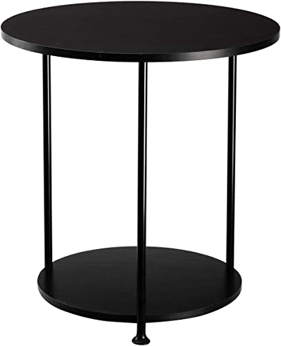 DOEWORKS Two-Tiered Round End Table
