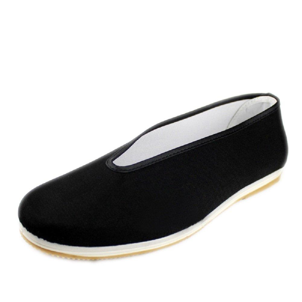 Lazutom Unisex Leisure Cotton Sole Chinese Cotton Tai-Chi/Kung Fu Shoes Martial Arts Gear (EU 38, Black)