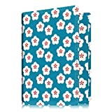 Fintie Passport Holder Travel Wallet - Premium Vegan Leather RFID Blocking Case Cover - Securely Holds Passport, Business Cards, Credit Cards, Boarding Passes, Floral Blue