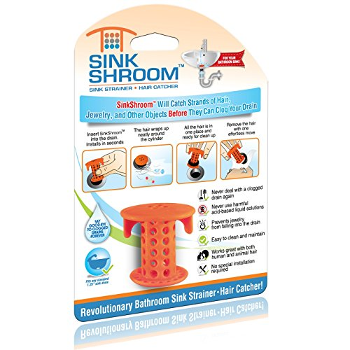 SinkShroom The Revolutionary Sink Drain Protector Hair Catcher/Strainer/Snare,