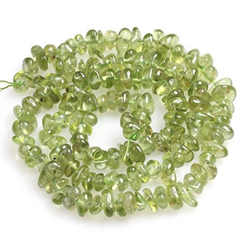 - Green Peridot Beads for Jewelry Making Natural Gemstone Semi Precious 4x6mm Freeform 15