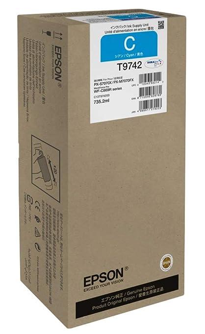 Epson T9742 735.2ml 84000páginas Cian cartucho de tinta - Cartucho ...