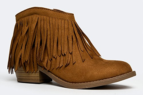JERVIS Fringe Ankle Boot Bootie,8.5 B(M) US,British Tan ISU price tips cheap