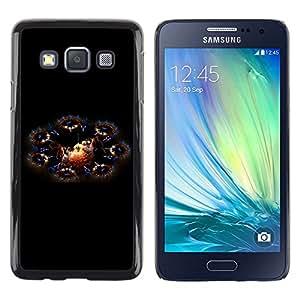 Paccase / Dura PC Caso Funda Carcasa de Protección para - Fairytale Dragons Cosmos Universe Art - Samsung Galaxy A3 SM-A300