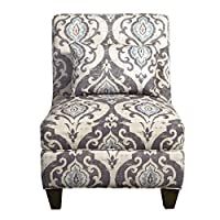 Overstock.com deals on HomePop Blue Slate Large Accent Chair