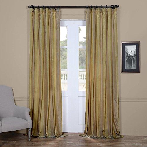 - PTS-SLK702A-96 Faux Silk Taffeta Stripe Curtain, 50 X 96, Riviera