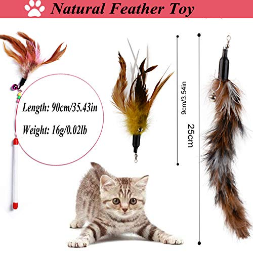 Legendog Cat Toys Set, 22PCS Kitten Toys Variety Cat Toy Pack Cat Toys Collection Kittten Toys Variety Pack Including Cat Feather Teaser Wand, Catnip Toy, Mice, Colorful Balls, Bells and so on for Cat 8