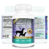 Probiotics For Dogs + Prebiotic - 3 Billion CFUs | Supports Dog Diarrhea, Constipation, Bloating, Gas, Allergies, Bad Dog Breath, Skin Itching, Yeast Infection, Immunity | 60 Chewable Tablets