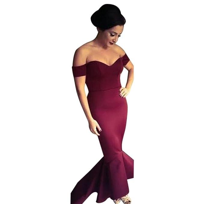 ❤Fuibo Damen Kleid, Frauen formelle Hochzeit Abend Party off ...