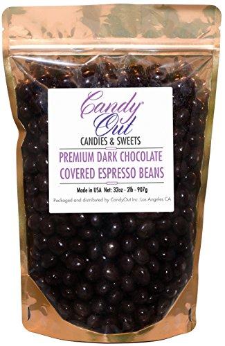 CandyOut - 2 Pound Premium Dark Chocolate Covered Coffee ...