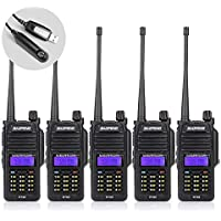Baofeng 5PCS R760 Waterproof IP57 136-174/ 400-520MHZ Dual Band Ham Two-way radio Walkie Talkie Transceiver with Programming Cable