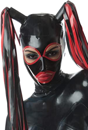Latex Catsuit Rubber Gummi  Bandage for Face Cover Catsuit Mask Customized 0.4mm