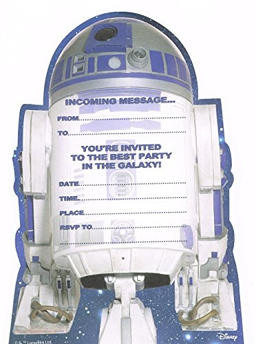 Star Wars Party Invitations (Star wars R2-D2 Party Invitations (Pack of)