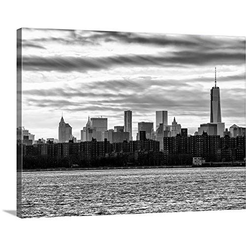 GREATBIGCANVAS Gallery-Wrapped Canvas Entitled New York City - Cityscape with The One World Trade Center Building by Philippe Hugonnard 40