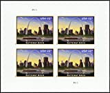 2017 $23.75 Gateway Arch Priority Express Mail Pane of Four Stamps Scott 5157 By USPS