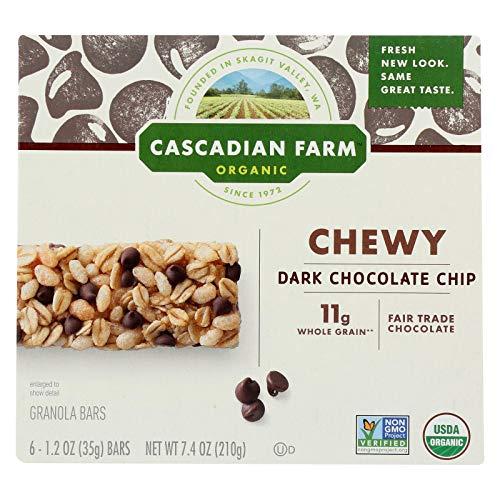 - Cascadian Farm Granola Bar - Organic - Chewy - Chocolate Chip - 7.4 oz - case of 12 - 95%+ Organic - - - - - by Cascadian Farm