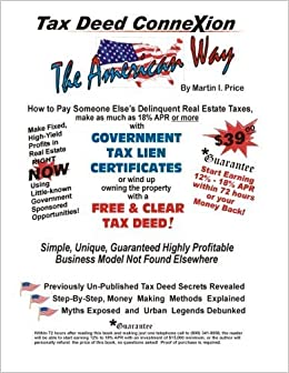 Book The Tax Deed Connexion: The American Way by Mr Martin I Price (2013-06-03)