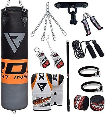 RDX Heavy Filled Punching Bag Cardio Boxing Gloves Training Mitts Gym MMA Kick B