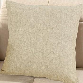 Amazon Burlap Linen Throw Pillow Case Cushion Cover Home