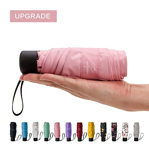 NOOFORMER mini Travel sun&rain Umbrella - Light Compact Parasol with 95% UV Protection for Men Women Multiple - Uv Website