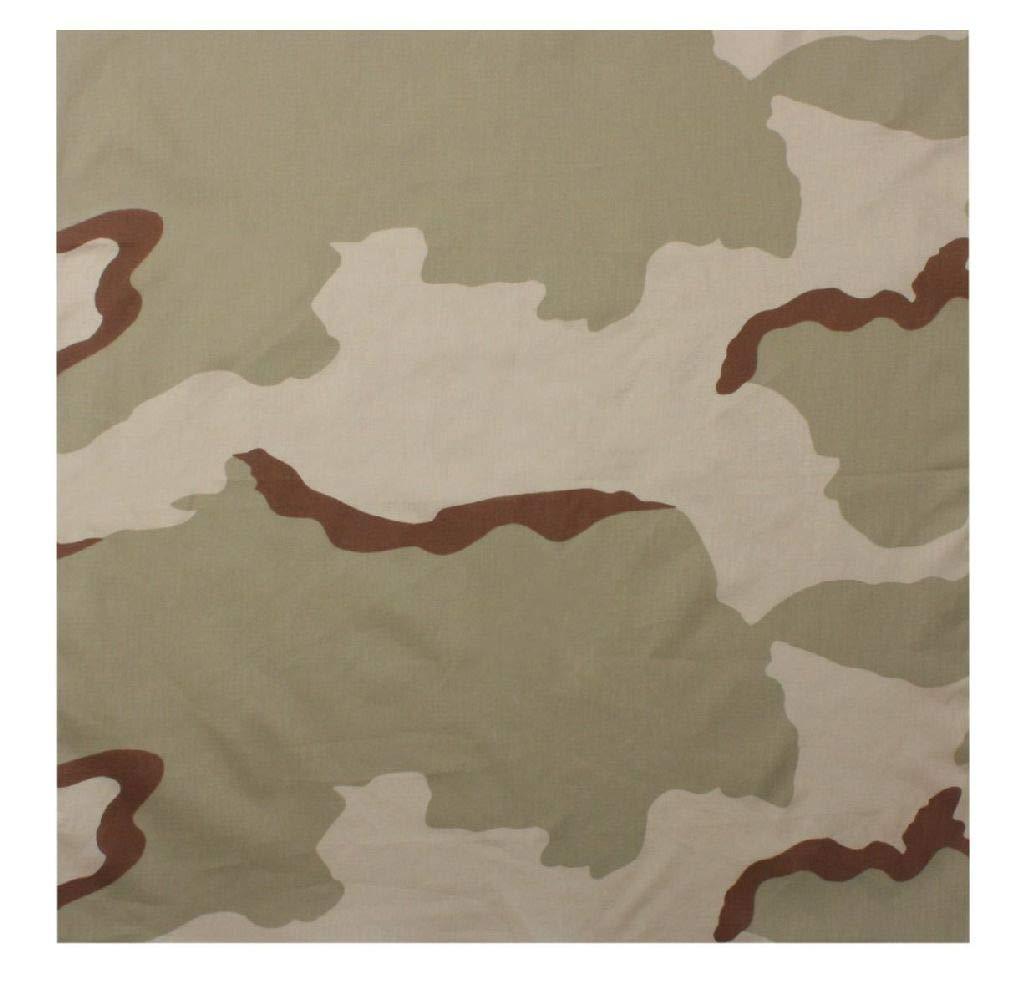 BlackC Sport Bandana 22 X 22 Camouflage Military Cotton Biker Camo Army