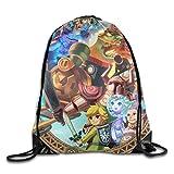 YFLLAY The Legend Of Zelda Spirit Tracks Drawstring Backpack Sack Bag/Travel Bag For Sale