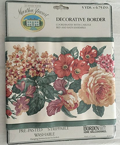 Borden At Home with Martha Stewart Decoractive Border Coordinates with Carlyle Bed & Bath Ensemble5 Yards