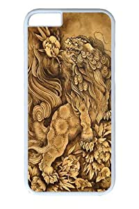 iphone 5 5s inch Case and Cover -Lion His Attendants PC case Cover for iphone 5 5s and iphone 5 5s inch White