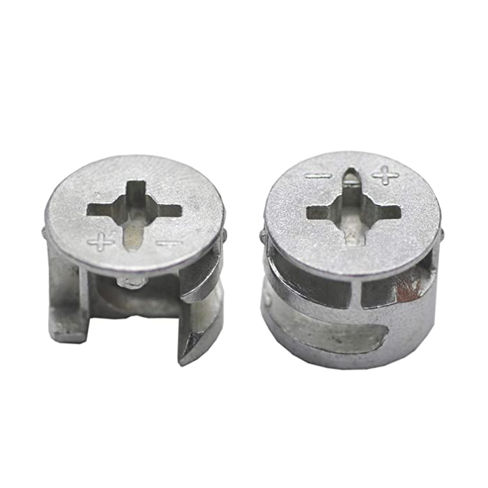 20 PCS Furniture Connecter Cam Lock Fittings 15mm x 12mm for Cabinet Drawer Dresser and Wardrobe Furniture Panel Connecting