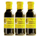 Lola Cion's Original BBQ Marinade |12 oz. 3 Pack Bottles | All Natural Ingredients Meat, Chicken, Pork, Steak, Fish | Injectable or Glaze | Sweet, Savory Authentic Flavor | Cooking and Grilling