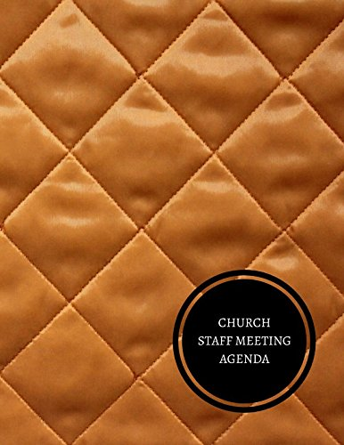 Church Staff Meeting Agenda: Church Meeting Minutes Log