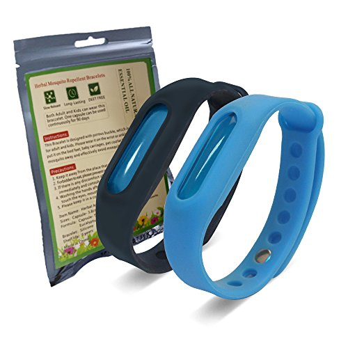 All Natural Mosquito Repellent Bracelets Waterproof Anti Mosquito Bracelet Wristband for Kids Adult...